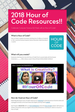 2018 Hour of Code Resources!!