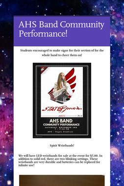 AHS Band Community Performance!