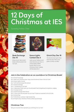 12 Days of Christmas at IES
