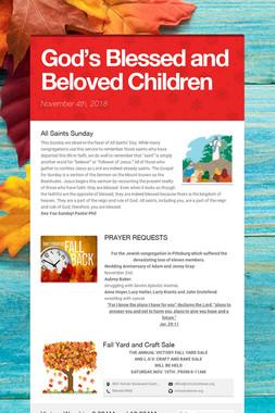 God's Blessed and Beloved Children