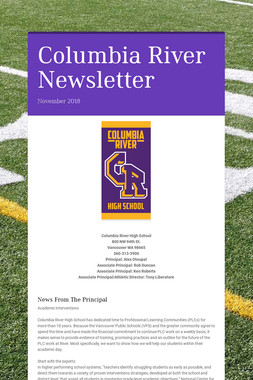 Columbia River Newsletter
