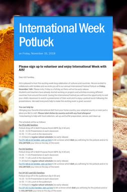 International Week Potluck