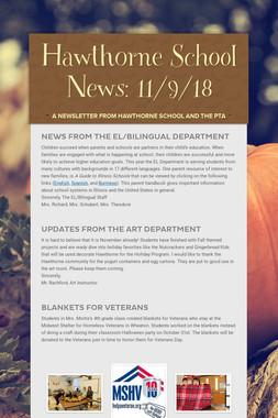 Hawthorne School News: 11/9/18