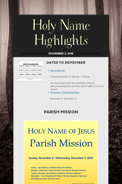 Holy Name Highlights