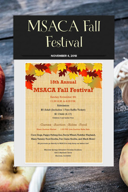 MSACA Fall Festival