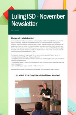 Luling ISD - November Newsletter