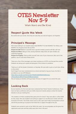OTES Newsletter Nov 5-9