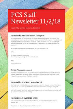 PCS Staff Newsletter 11/2/18