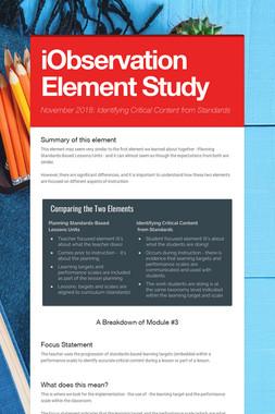 iObservation Element Study