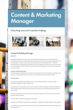 Content & Marketing Manager