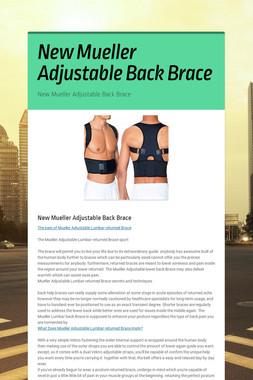 New Mueller Adjustable Back Brace
