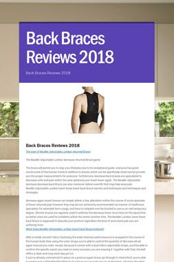 Back Braces Reviews 2018