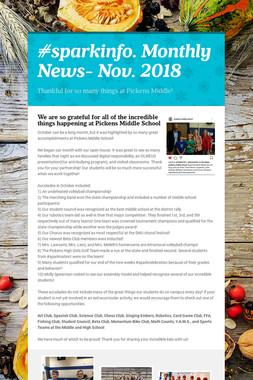 #sparkinfo. Monthly News- Nov. 2018