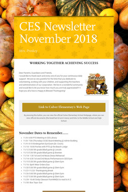 CES Newsletter November 2018