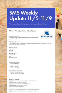 SMS Weekly Update 11/5-11/9