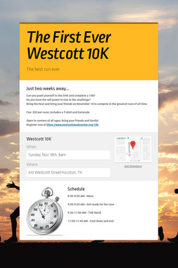 The First Ever Westcott 10K