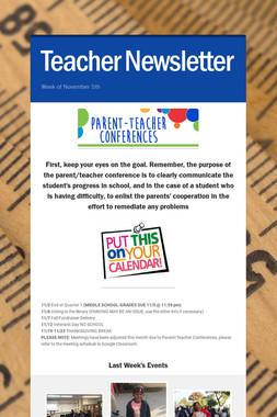 Teacher Newsletter