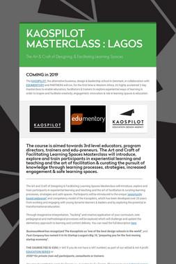 KAOSPILOT MASTERCLASS : LAGOS