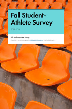 Fall Student-Athlete Survey