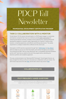 PDCP Fall Newsletter