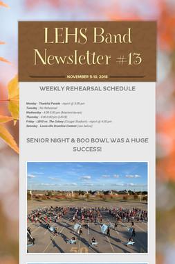 LEHS Band Newsletter #13