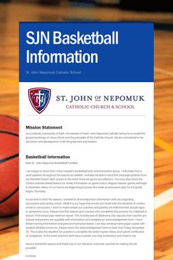 SJN Basketball Information