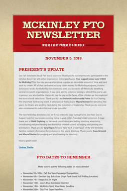 McKinley PTO Newsletter
