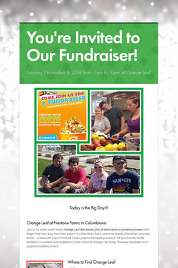You're Invited to Our Fundraiser!
