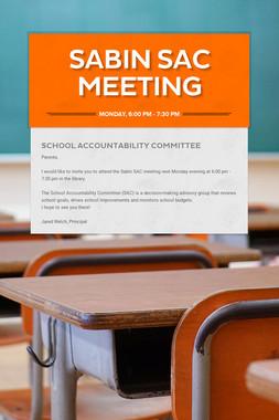 Sabin SAC Meeting