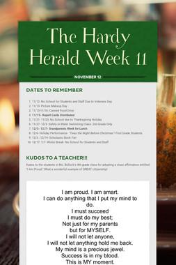 The Hardy Herald Week 11