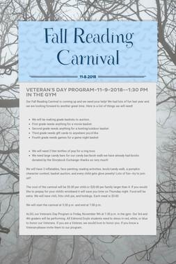 Fall Reading Carnival