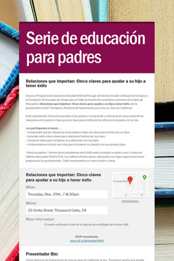 Serie de educación para padres