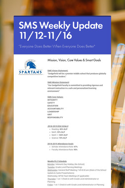 SMS Weekly Update 11/12-11/16