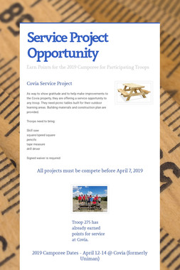 Service Project Opportunity