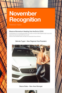October Recognition