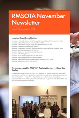 RMSOTA November Newsletter