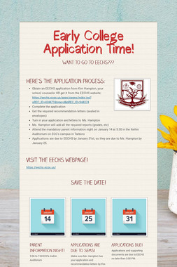 Early College Application Time!