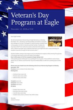 Veteran's Day Program at Eagle