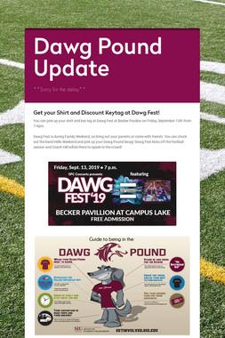 Dawg Pound Update