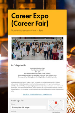 Career Expo (Career Fair)