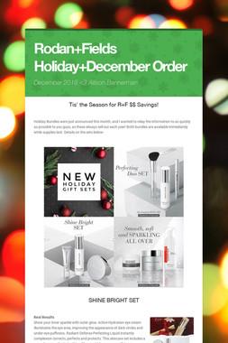 Rodan+Fields Holiday+December Order