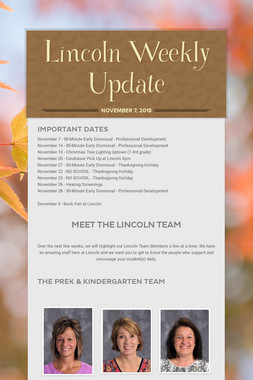 Lincoln Weekly Update