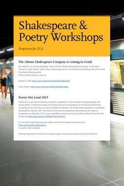 Shakespeare & Poetry Workshops