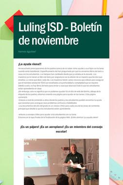 Luling ISD - Boletín de noviembre