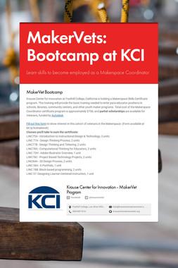 MakerVets: Bootcamp at KCI