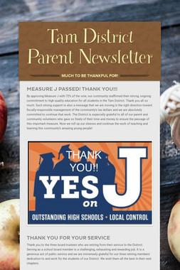 Tam District Parent Newsletter
