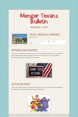 Menger Texans Bulletin