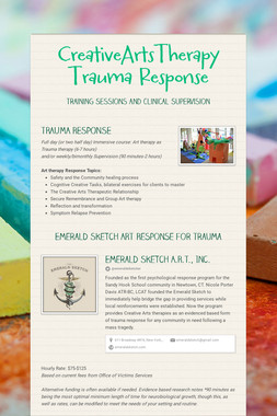 CreativeArtsTherapy Trauma Response
