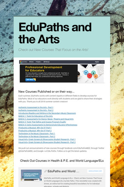 EduPaths and the Arts