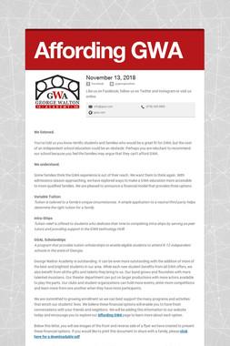 Affording GWA